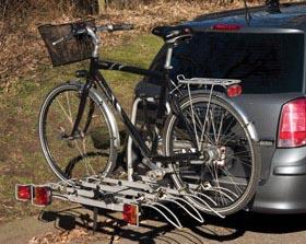 Saffier Cykelholder til 4 cykler med lås og vippefunktion Transportudstyr > Cykelholder