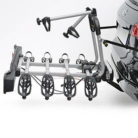 Parma Cykelholder platform til 4 cykler med Quick-release Transportudstyr > Cykelholder