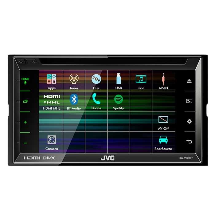 JVC autoradio KWV620BTE 2 DIN CD / RDS turner m. Bluetooth Bilstereo