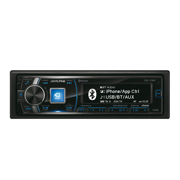 Alpine CDE-178BT CD/Tuner Bluethooth 3 line out 4V Bilstereo > CD / Radio > Alpine