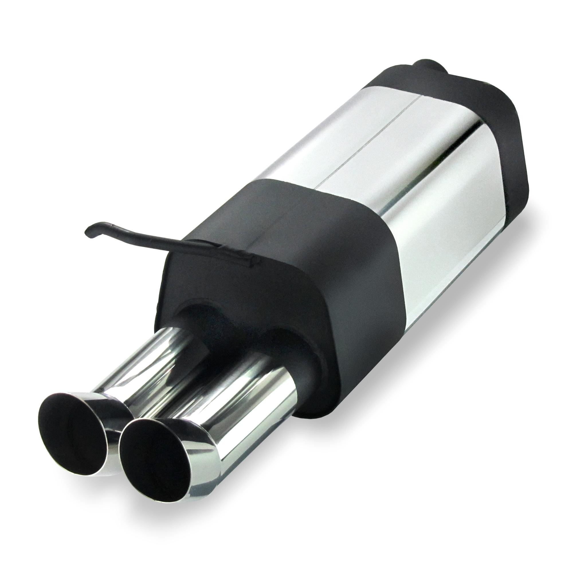 JOM Bagpotte rustfri stål med 2x76 mm afgange - DTM look. Til Seat Leon 1M Udvendig tilbehør > Udstødning