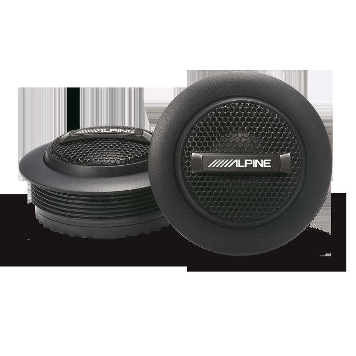 "Alpine SPS-110TW Tweeter/Diskant sæt Bilstereo > Højttalere > Alpine > Højttalere ""Custom fit"" Serie"