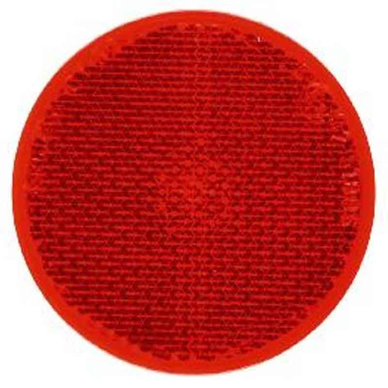 Rund refleks ø 60 mm selvklæbende Rød Bil & Trailer // Reflekser // Runde reflekser