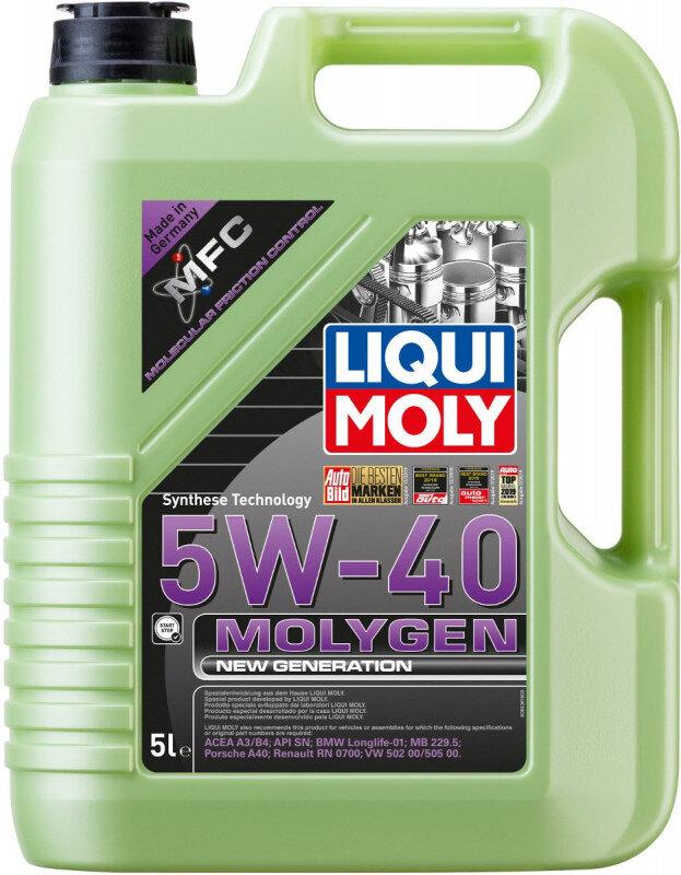 5W40 Molygen New generation motorolie fra Liqui Moly