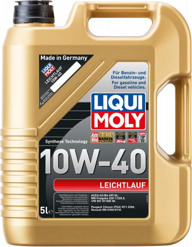 10W40 Motorolie Letløb i gul