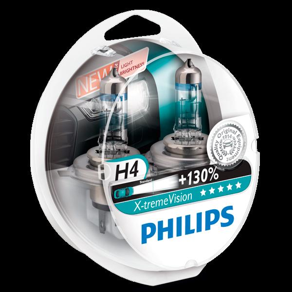 Philips X-treme Vision pærer H4