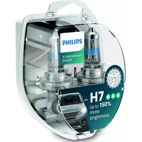 Philips X-Treme Vision Pro150 H7 pærer +150% mere lys (2 stk) Philips Xtreme Vision Pro +150%