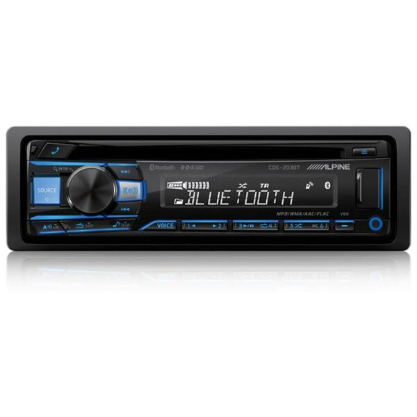Alpine CDE-203BT 2-DIN CD/Turner 2 line out Bluetooth Bilstereo > CD / Radio > Alpine