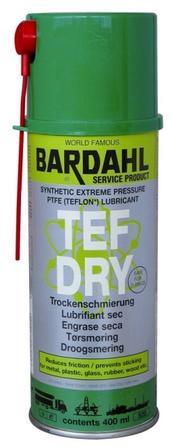 Bardahl TF Dry 400 ml. (tørspray forstærket med teflon) Olie & Kemi > Smøremidler