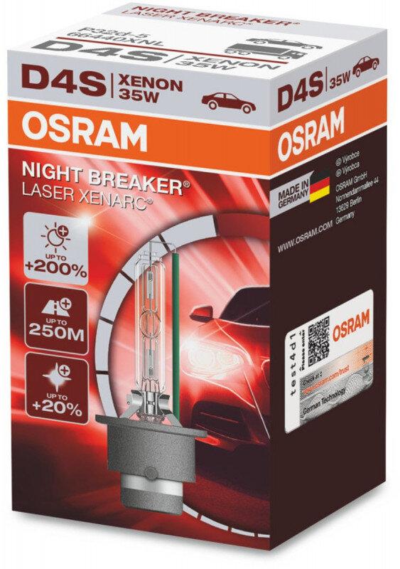 Osram D4S Night Breaker Laser Xenon pære med +200% mere lys (1 stk) Xenon Pærer